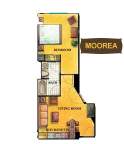 Floor Plan of Moorea Room at Tahiti Village